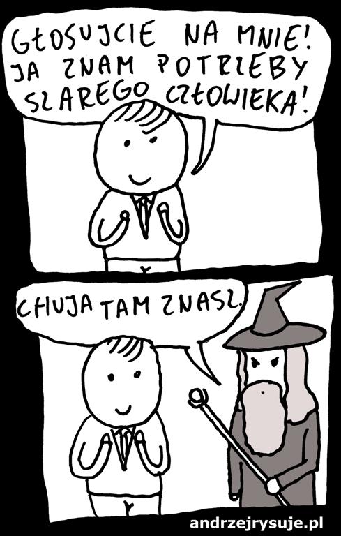 szary czlowiek Gandalf