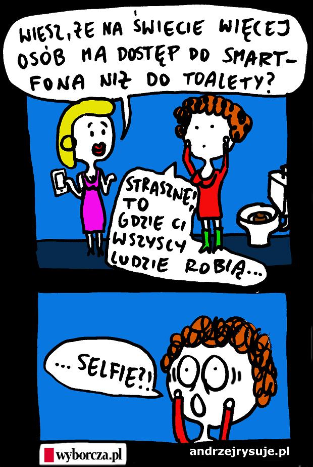 smartfon i toaleta