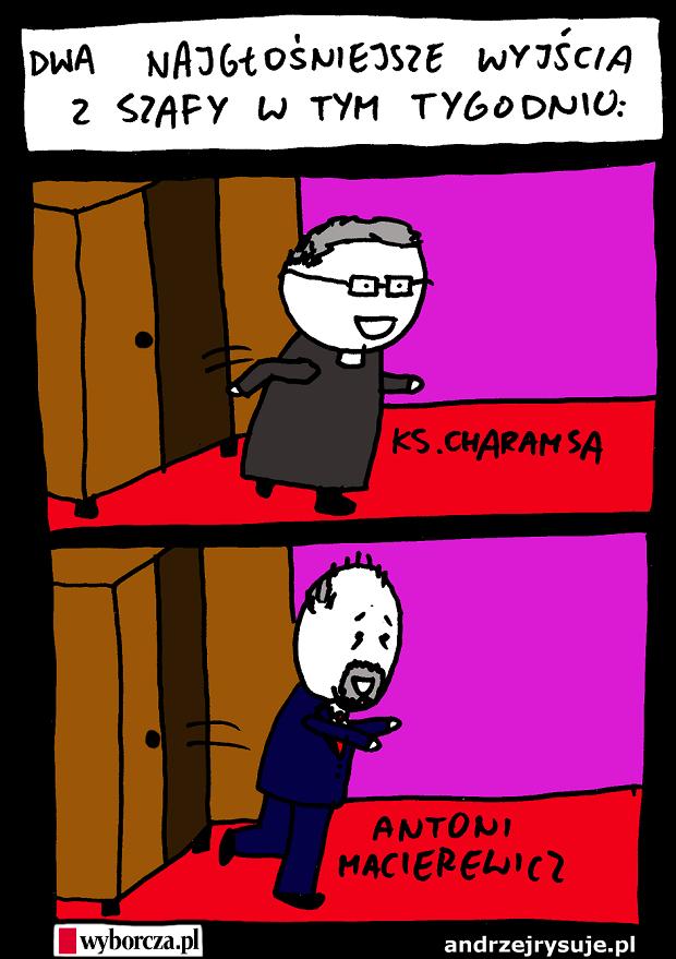 Dwa wyjscia z szafy