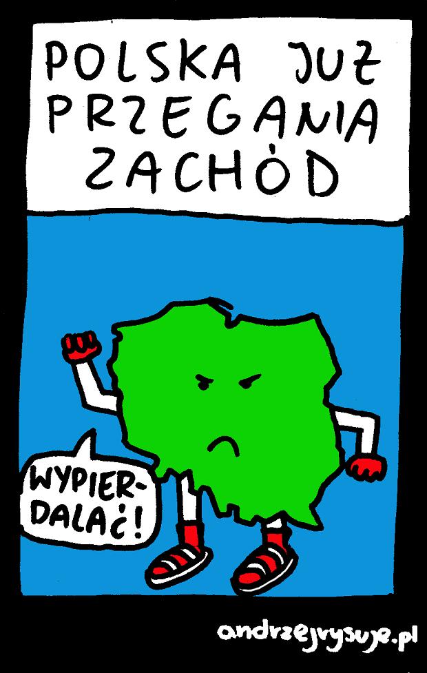 Polska przegania Zachod